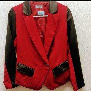 Italiago red and black blazer small
